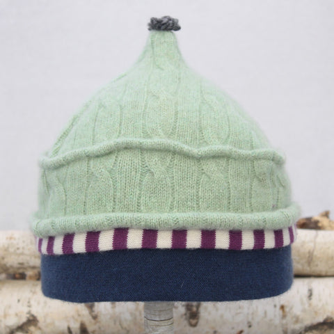 Onion Hat ON8198 Mint Green w/ Purple, Blue