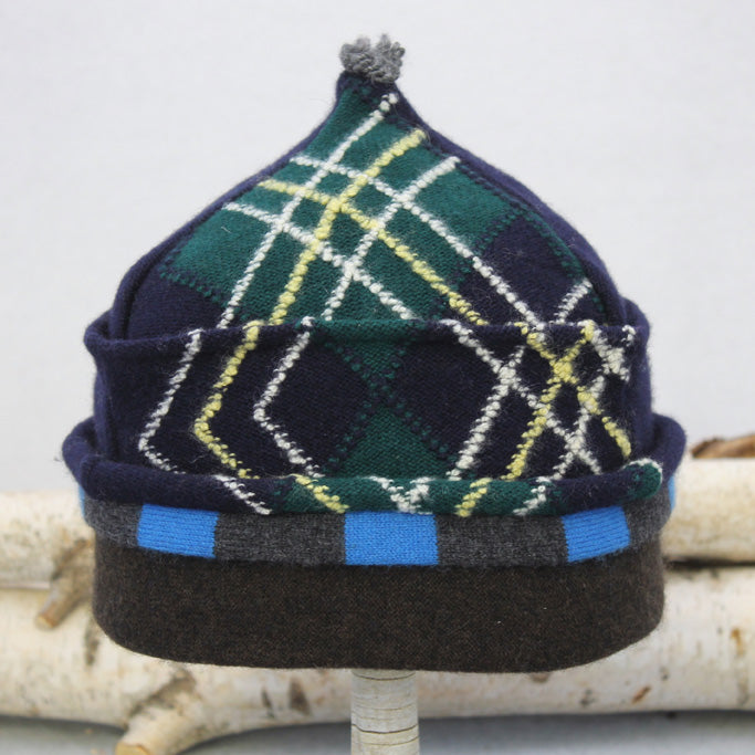 Onion Hat ON8308 Navy Blue Argyle w/ Grey, Brown