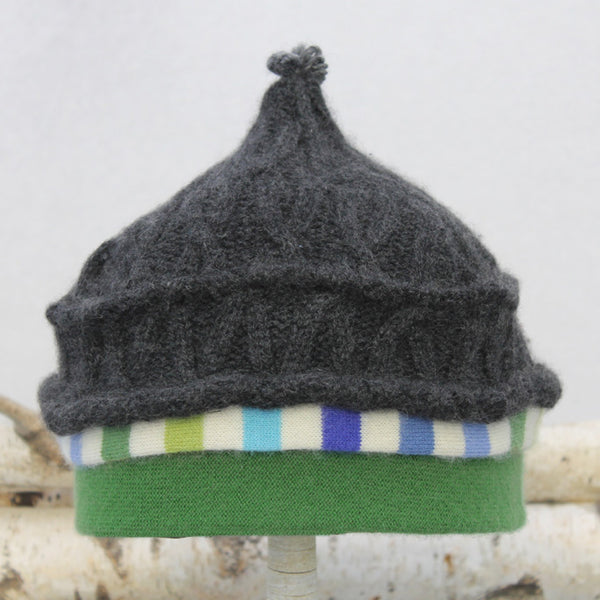 Onion Hat ON9058 Charcoal Grey w/ Green - Large