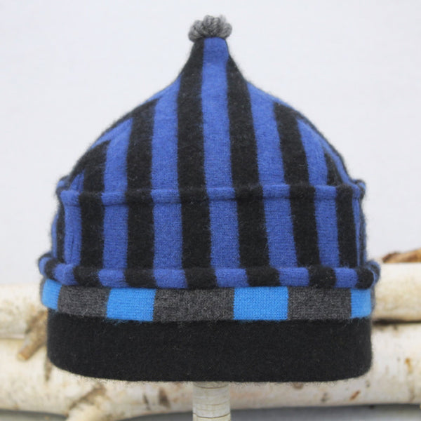 Onion Hat ON9138 Cobalt Blue Stripe w/ Black - Small
