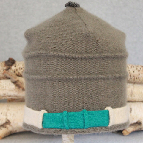 Saturn Hat S7065 Muted Sage Green w/ Oat, Teal Green