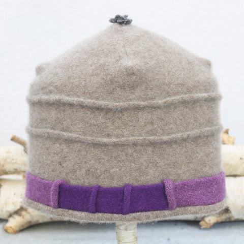 Saturn Hat S8083 Dark Oat w/ Purple
