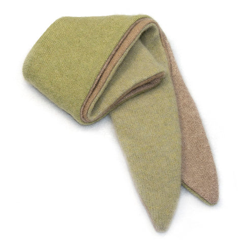 Twist Scarf TS0043 Green, Camel