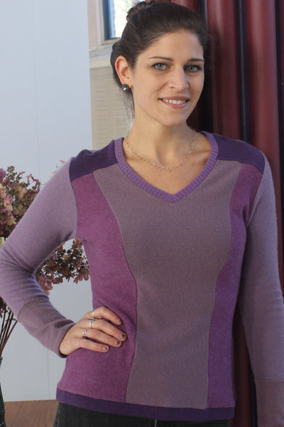 V-Neck Sweater Pink - X-Large