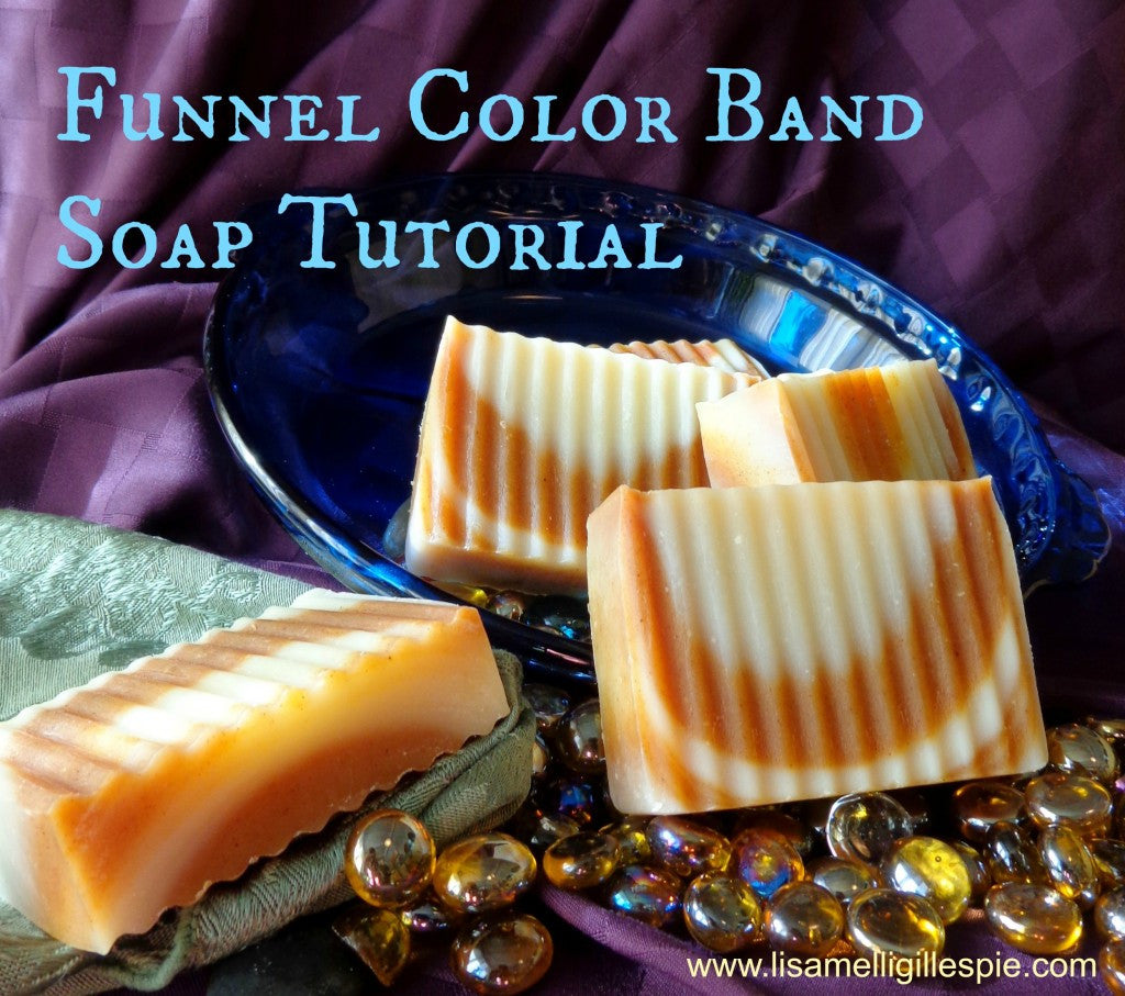Refining soap design with color bands (Funnel Color Band Soap Tutorial)