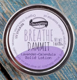 BREATHE DAMMIT Lavender Calendula Solid Lotion