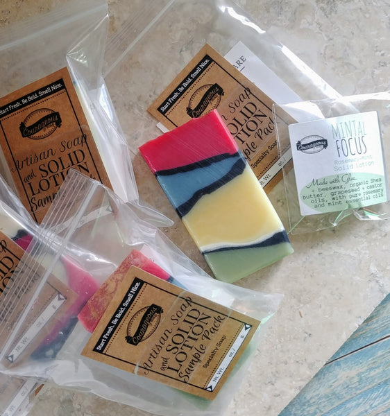 Artisan Soap + Solid Lotion Sample Packs