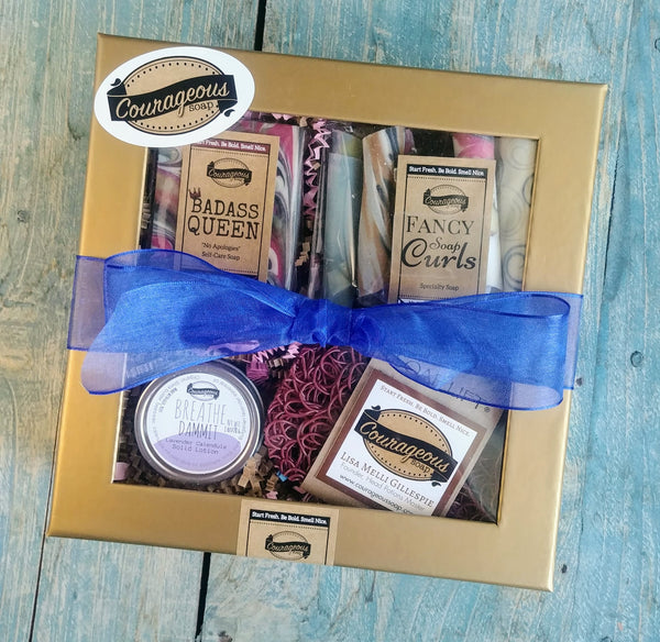 Deluxe Aroma Art Soap, Curls + Gear Gift Set