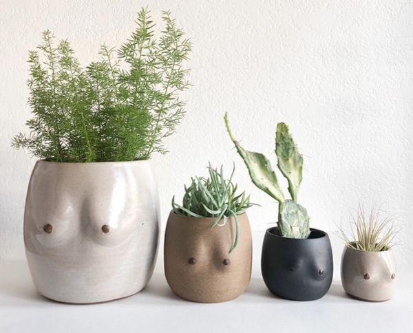 Less Is More Studios Boobie Planter Collection