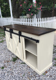 Media Cabinet with Sliding Barn Doors