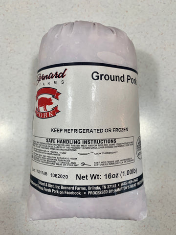 Ground Pork - One Pound