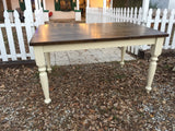 5' Harvest Table with Benches