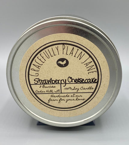 Strawberry Cheesecake - 8 oz. Candle