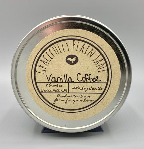 Vanilla Coffee - 8 oz. Candle