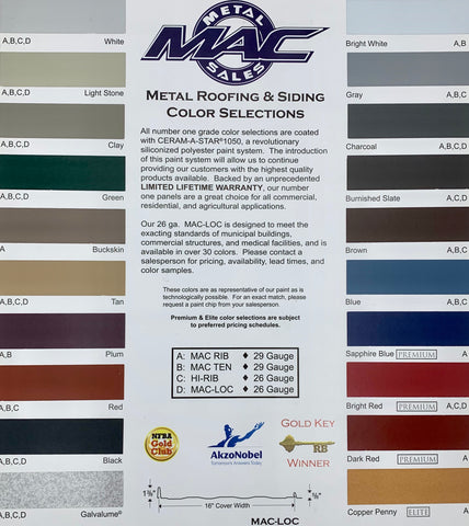 Metal Roof Color Options