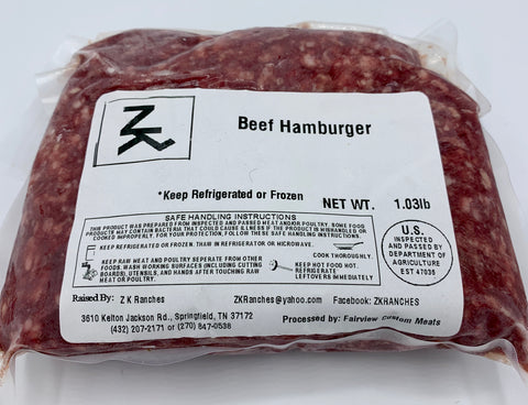 One Pound Ground Beef - ZK Ranches