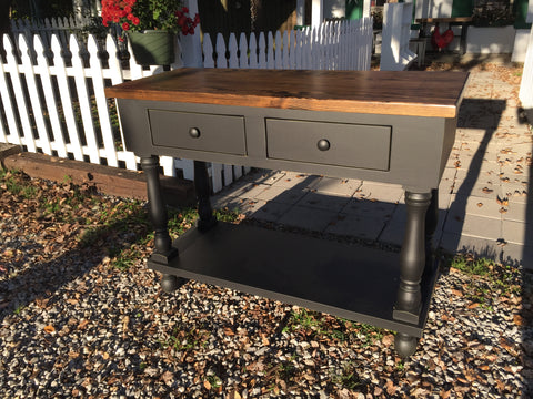 French Island - black with dark stain top