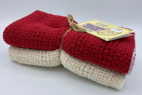 Apple Red & Natural - 2 Dish Towels