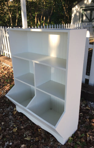 Custom Toy Box Bookcase White
