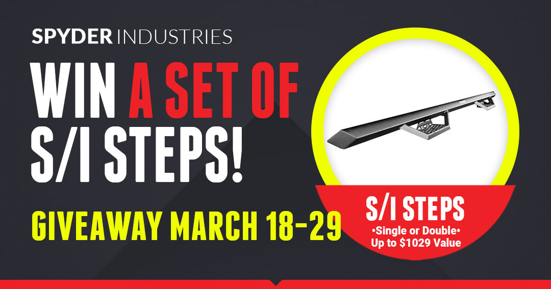 Win a set of S/I Steps for Trucks by Spyder Industries