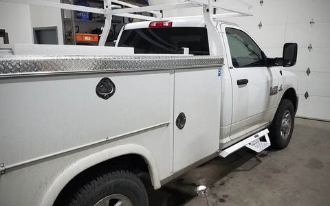 Cab length steps on work truck - Spyder Industries