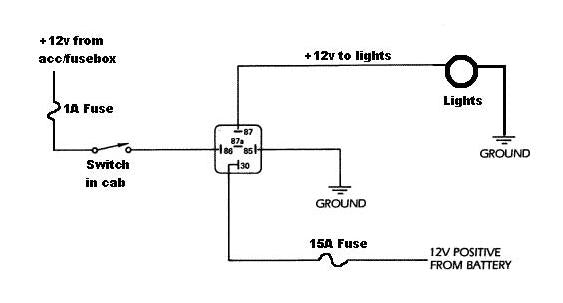Simple auxilliary lighting diagram