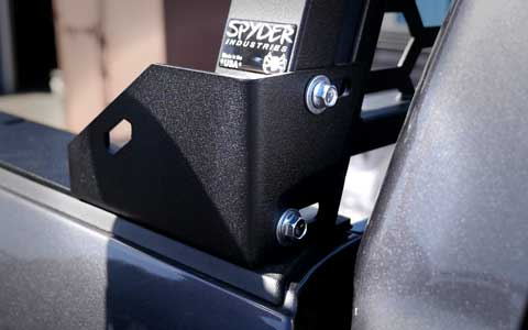 Spyder Industries bed rail (mount) bolted to headache rack