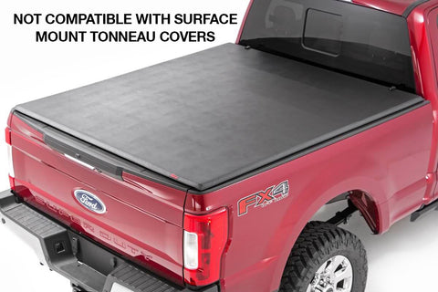 Spyder Industries headache rack compatibility with surface mount tonneau covers