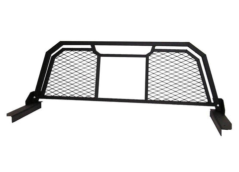 Headache rack with grate with window opening