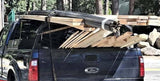 Rear Hoop Truck Rack - Three Quarter Height with Lumber Stops