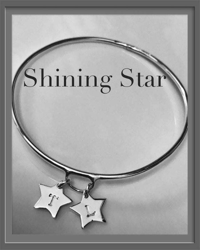 Shining star bangle personalised