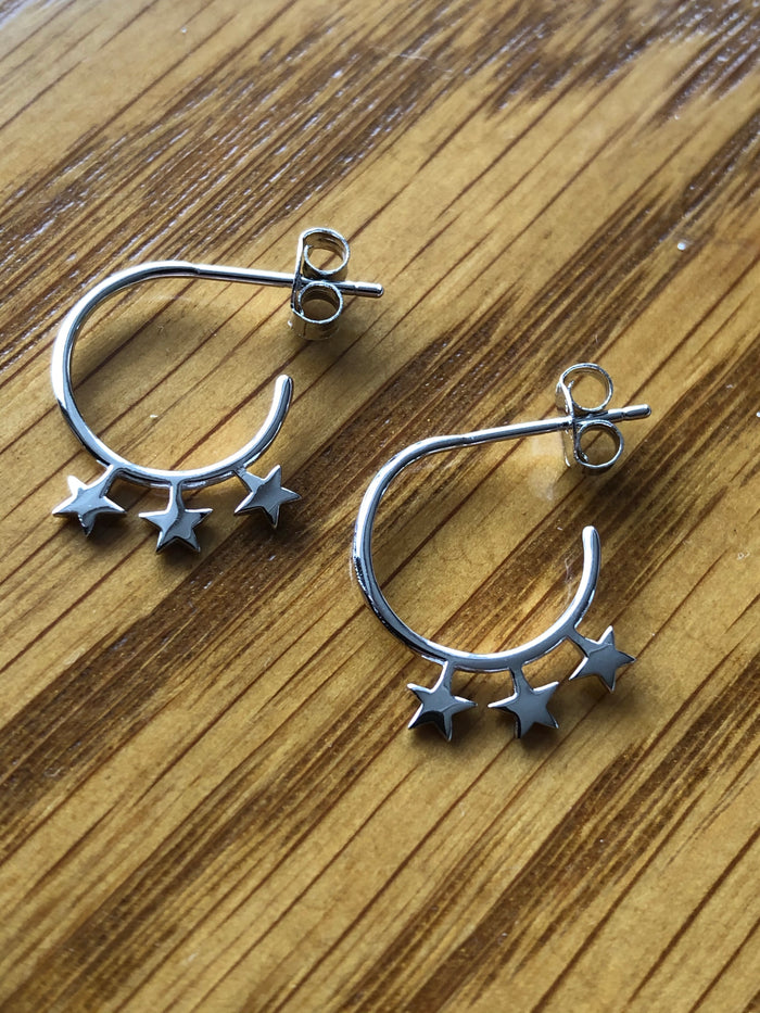 Midnight Sparkle Hoops