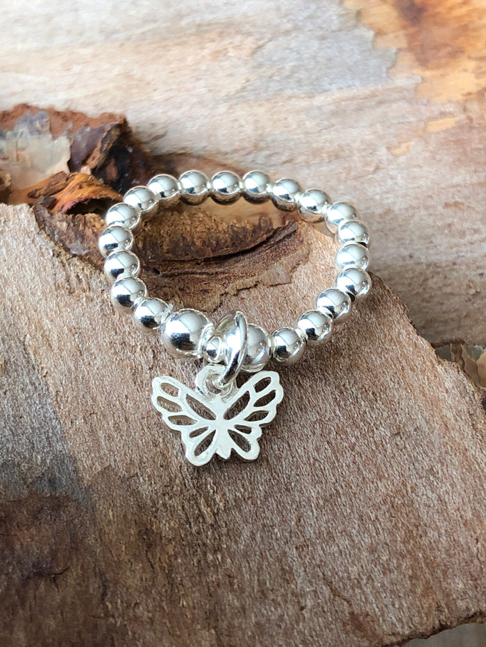 Butterfly Bead Ring