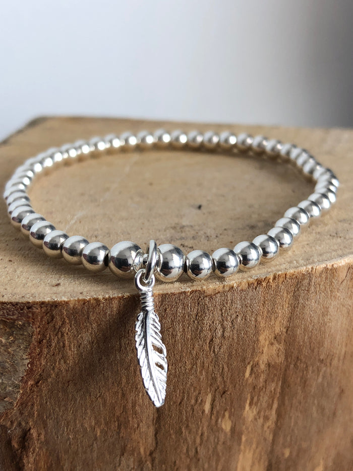 Feather Bead Bracelet
