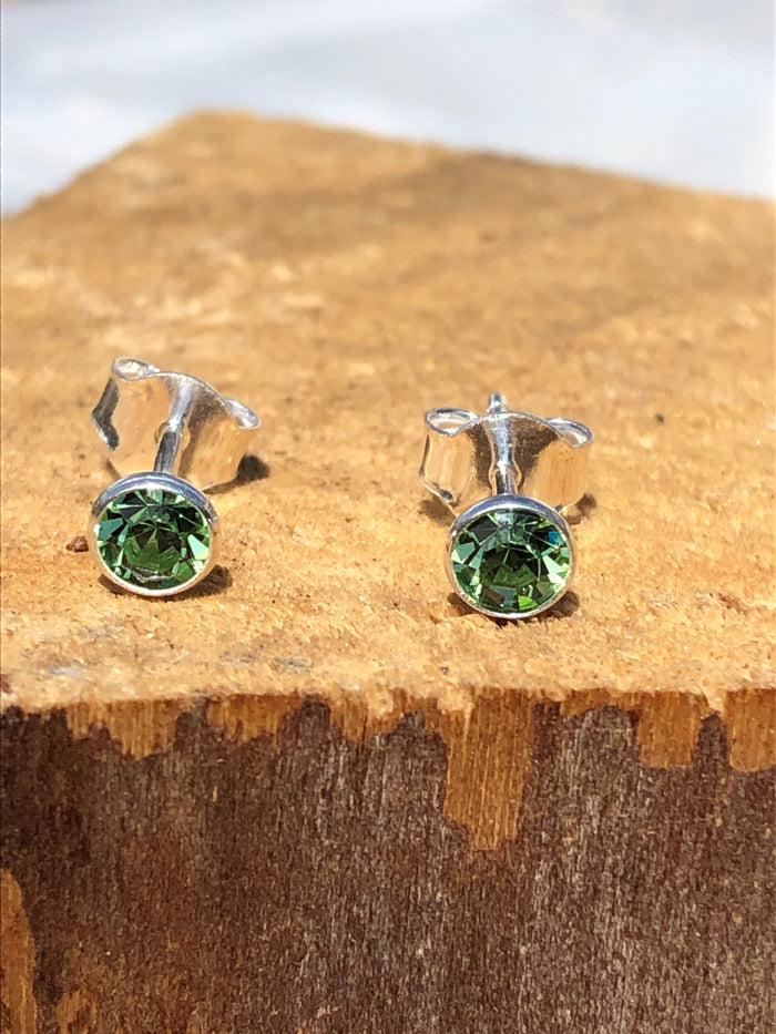Birthstone August peridot Stud Earrings