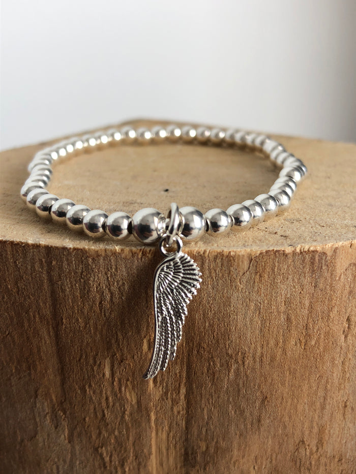 Angel wing bead bracelet