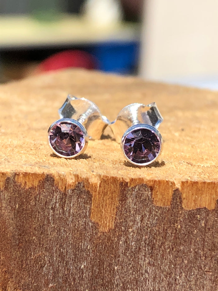 Birthstone June Alexandrite Stud Earrings