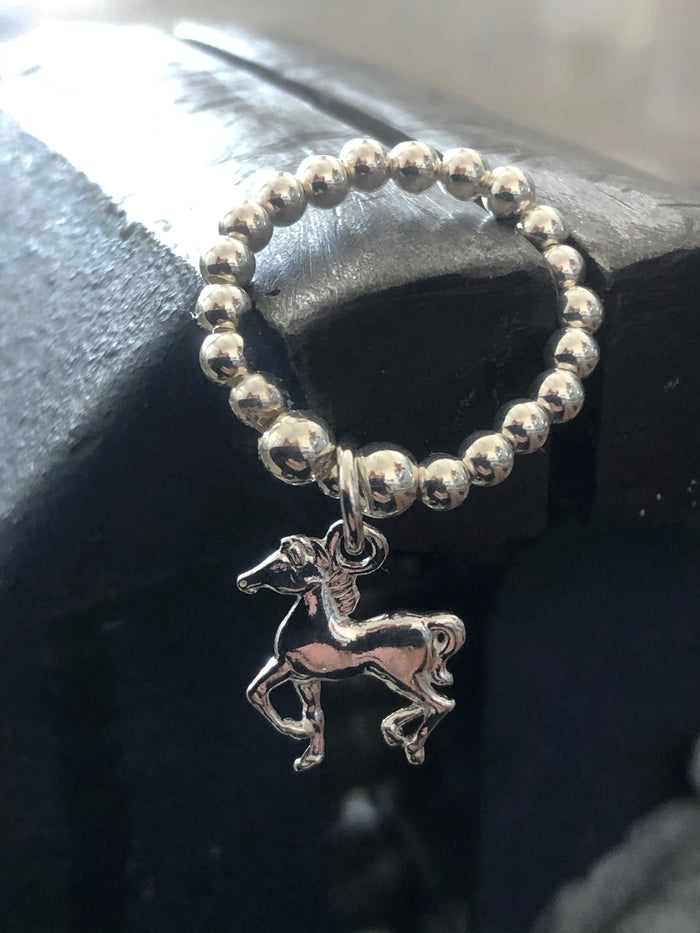 Horse Bead Ring