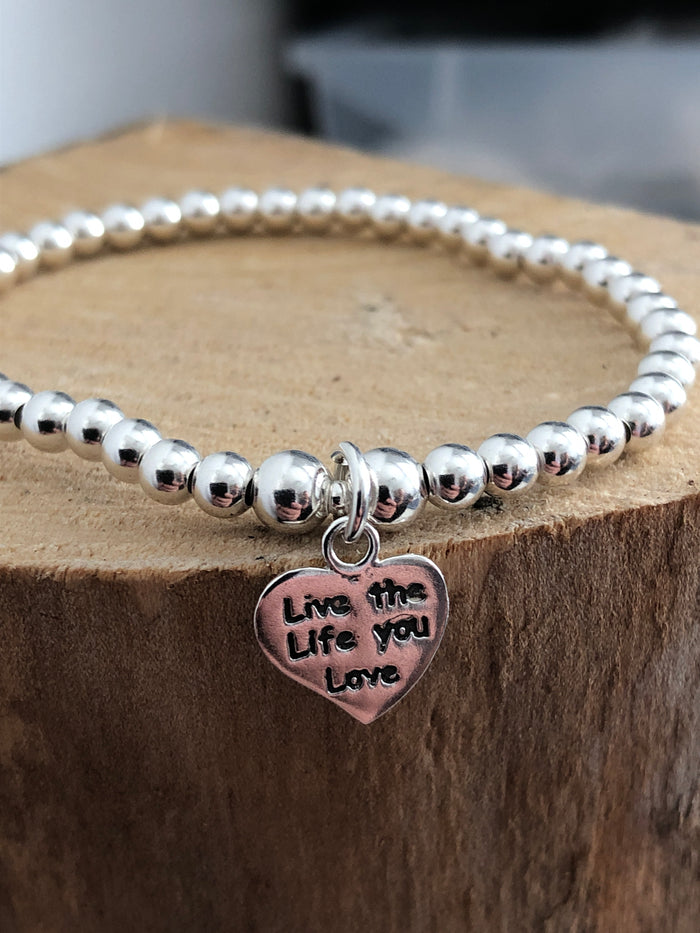 Live the life you live Lumiere beaded bracelet