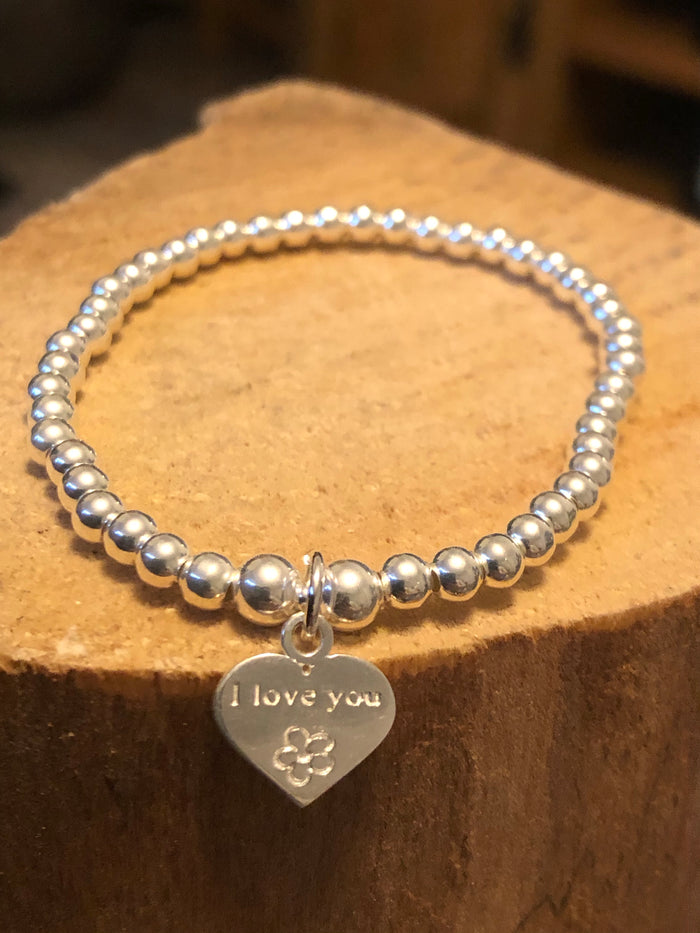 I love you Bead Bracelet