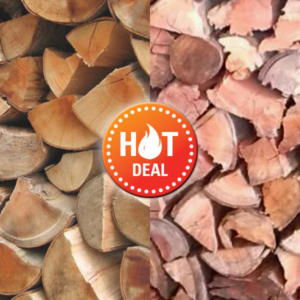 Combo Winter Warmer - Fireplace Deal (Bagged Wood) - The Wood Gurus