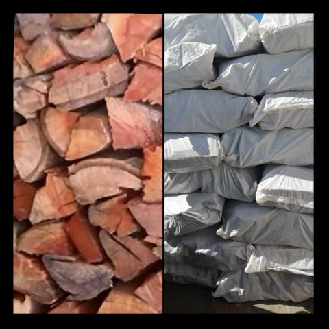 Blue Gum  kaggelhout- Order per 5  large bulk  Bags - The Wood Gurus