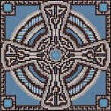 Aquamarine Celtic Cross