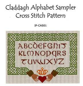Claddagh Alphabet Sampler