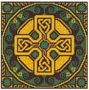 Emerald Celtic Cross