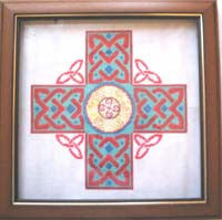 Red & Green Celtic Cross