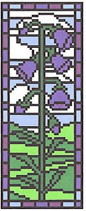Stained Glass Bluebell