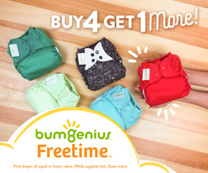 Bum Genius Sale ...Buy 4, Get 1 More!