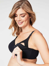 Load image into Gallery viewer, Black Croissant Bra - 36I