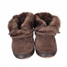 Load image into Gallery viewer, Cozy Brown Soft Sole Ankle Bootie - 18-24 Months